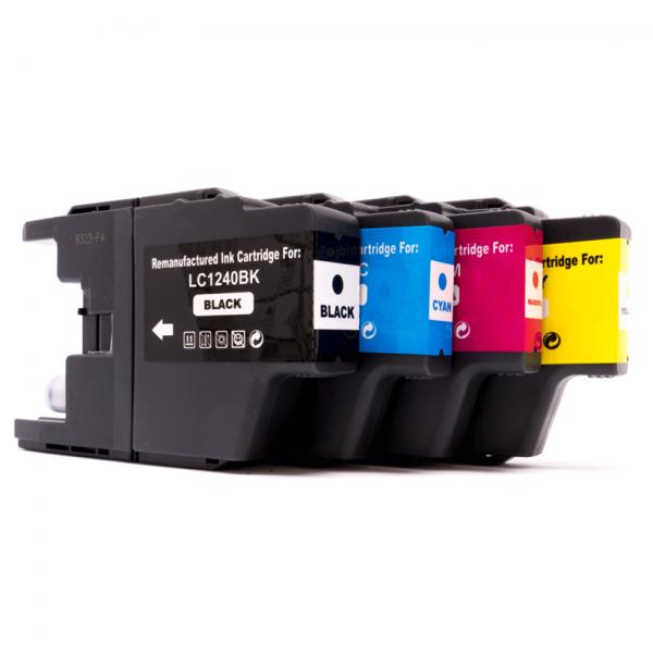 Kompatibel Brother LC-1240 Tintenpatronen BK C M Y 4er Set