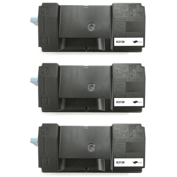 Kompatibel Kyocera Ecosys M3550 Idn M3560 Toner Schwarz TK-3130 BK (~25000 Seiten) 3er Set