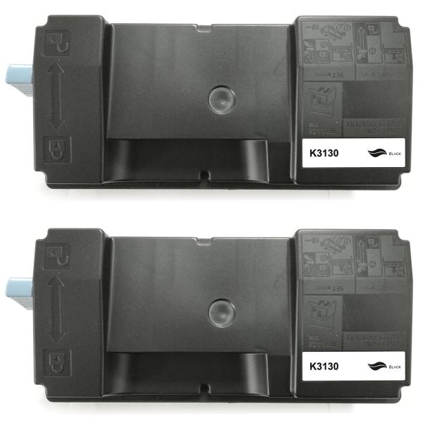 Kompatibel Kyocera Ecosys M3550 Idn M3560 Toner Schwarz TK-3130 BK (~25000 Seiten) 2er Set
