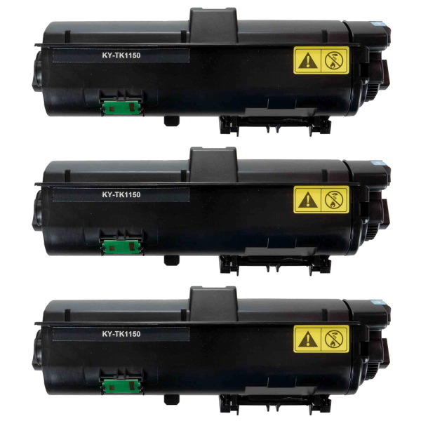 Kompatibel Kyocera TK-1150 Toner BK Schwarz Ecosys M2135 M2635 M2735 P2235 (3x 3.000 Seiten) 3er-Set