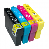 Kompatibel zu Epson 502 XL WF 2860 2865 DWF XP-5100 XP-5105 Multipack 4 Druckerpatronen BK C M Y